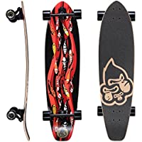 Star-Skateboards Premium Canadian Maple Top Mount Komplett Pro Longboard Skateboard für Kinder und Erwachsene auch Anfänger ab ca. 8-10 Jahre ★ 65mm Flex Carving/Cruiser Edition ★