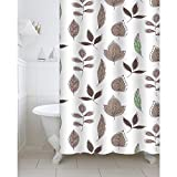 #6: Freelance Value for Money Polyester Bath Shower Bathroom Curtain with 12 hooks, Waterproof, 180 (Width) x 200 (Height) cm