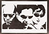 The Matrix Neo Trinity And Morpheus Handmade Street Art - Artwork - Poster