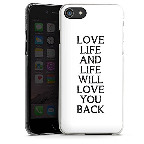 Apple iPhone X Silikon Hülle Case Schutzhülle Liebe Leben Sprüche Hard Case transparent