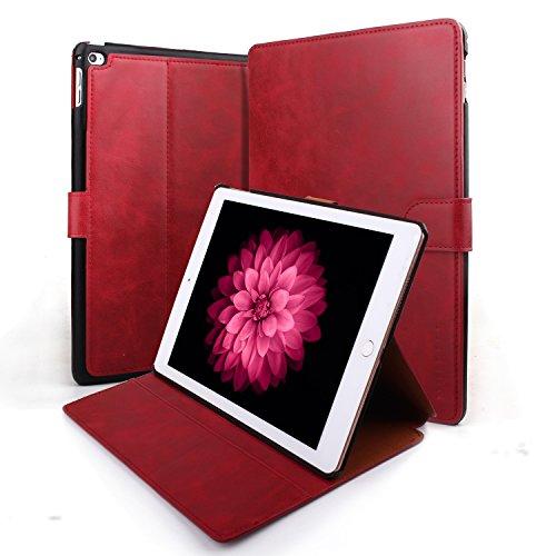 Mulbess Ledertasche im Ständer Flip Case für Apple iPad Air 2 9.7 Zoll Tasche Hülle Leder...