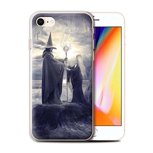 Officiel Elena Dudina Coque / Etui Gel TPU pour Apple iPhone 8 / Pack 6pcs Design / Magie Noire Collection Maestro/Sorcier