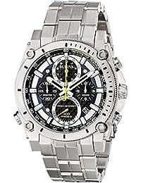 Bulova Precisionist 96G175 - Reloj de pulsera de diseño para hombre - Función de cronógrafo - Acero inoxidable - Azul y amarillo