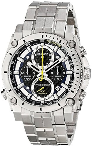 bulova-mens-designer-chronograph-watch-stainless-steel-bracelet-blue-w-yellow-precisionist-wrist-wat