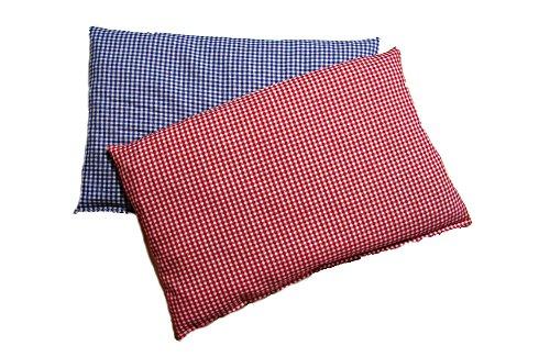 Set Kirschkernkissen Wärmekissen Körnerkissen ca.30 x 20 cm Vichy-Karo Blau & Rot