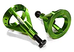 Integy Rc Hobby C26133 Green Realistic 59 105mm Model Jack Stands (2) For 1/10 & 1/8 Scale & Rock Crawler