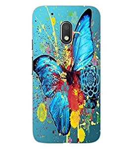 ColourCraft Colourful Butterfly Design Back Case Cover for MOTOROLA MOTO G4 PLAY