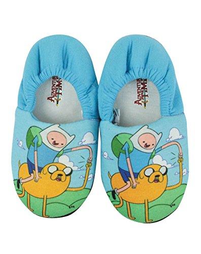 Ragazzi - Noisy Sauce - Adventure Time - Pantofole (10 UK Bambini)