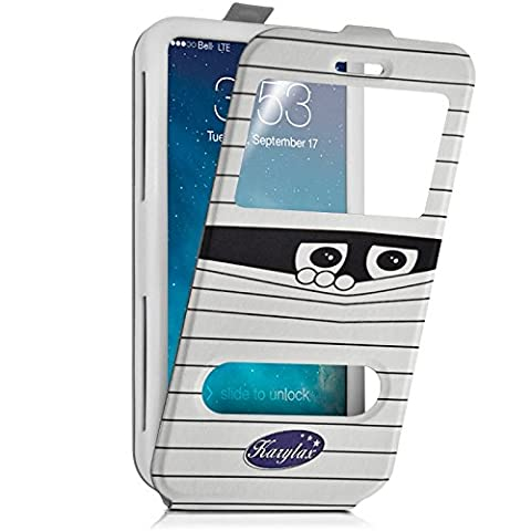 Seluxion - Etui Coque Silicone S-View Motif SC04 Universel XS pour Yezz Andy 4EI2