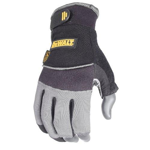 Preisvergleich Produktbild Dewalt Drei-Finger-Synthetik Leder gefräste Handschuh,  DPG240M