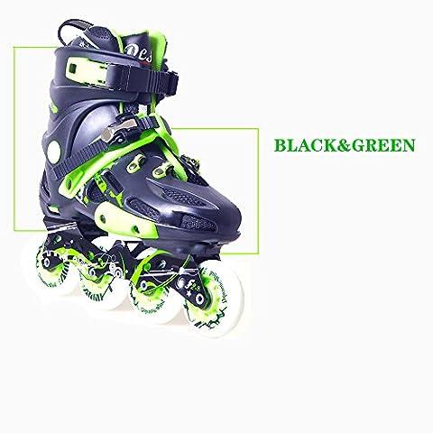 Crayom College Studenten professionelle erwachsene Skates Straight Roller Skates Adult Fancy Skates Einzelne Reihe von flachen Schuhe und Männer und Frauen Kinder voller Satz von Skates ( Size : 38 )