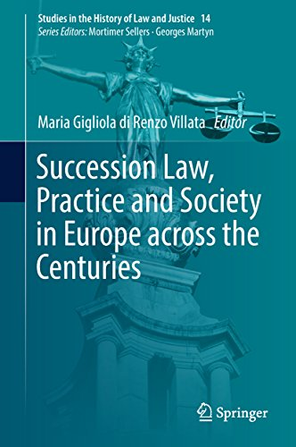 Ebooks Succession Law, Practice and Society in Europe across the Centuries (Studies in the History of Law and Justice Book 14) Descargar Epub