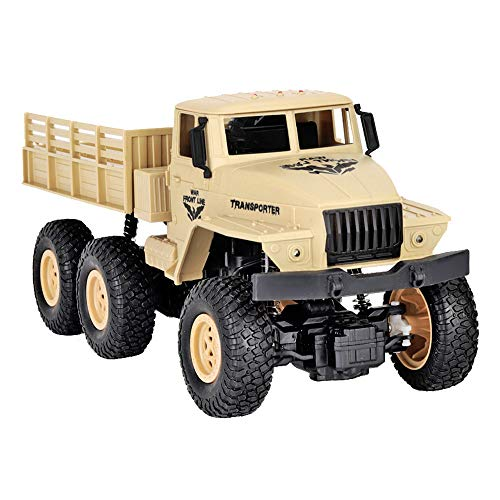 WINLISTING JJR/C Q68 RC1:18 2.4G Remote Control 6WD Tracked Off-Road Military Truck Car RTR