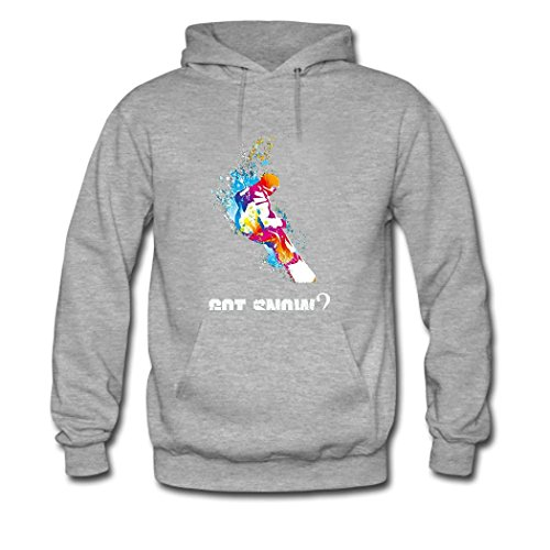 weileDIY Got Snow DIY Custom Women's Classic Hoodie Sweatshirt Gray