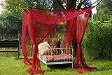 Leguana-Ciel-de-lit-moustiquaire-pour-lit--baldaquin-simple-ou-double-Bordeaux