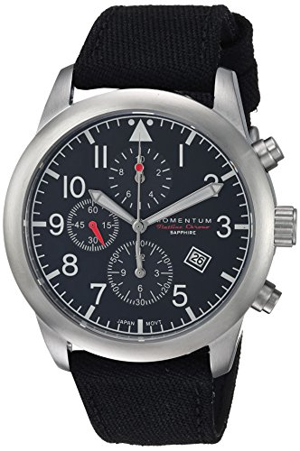 Momentum Men's Analog Japanese-Quartz Watch with Canvas Strap 1M-SN34BS6B