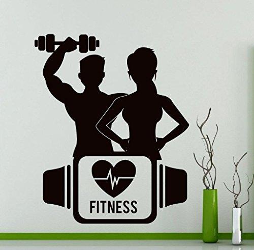 Preisvergleich Produktbild Wandtattoo Sport Fitness Training Yoga Gym Vinyl Aufkleber Home Interior Dekoration
