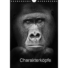 Charakterköpfe 2019 (Wandkalender 2019 DIN A4 hoch): Affenportraits (Monatskalender, 14 Seiten ) (CALVENDO Tiere)