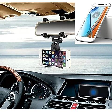 Supporto Smartphone specchietto retrovisore per lenovo Moto G (4. Gen.),