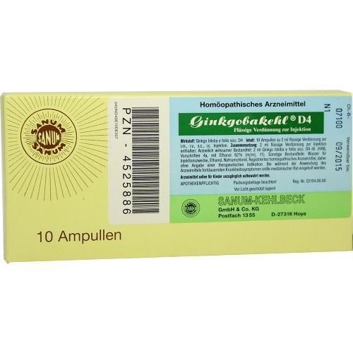 Ginkgobakehl D 4 Ampullen, 10X2 ml