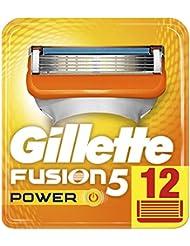 Gillette Fusion5 Power Lames De Rasoir Pour Homme - 12Recharges