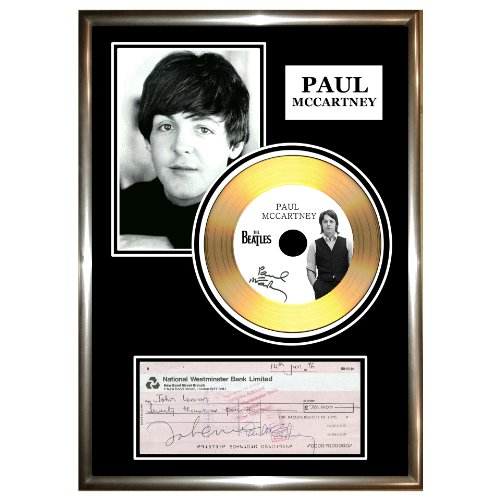 Paul McCartney - firmato assegno favolosa Gold CD & foto (Firmato Assegno)