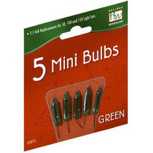 Preisvergleich Produktbild Holiday Wonderland 1115-7-88 2.5V Green Replacement Bulb / Christmas Bulbs Miniature Replacement