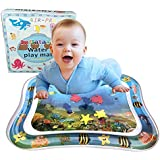"""Inflatable Tummy Time Baby Water Play Mat for Infants Toddlers BPA Free Leakproof Activity Center for Newborns Engaging Fun Toys for Stimulation Growth 26""""x20"""""""