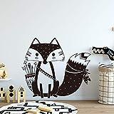 Schöne Fuchs Tier Wandaufkleber Wandtattoos für Kinderzimmer Baby Raumdekoration schlafzimmer Dekor wandaufkleber Wandbild 58 * 66 cm
