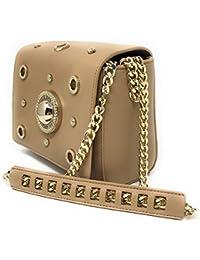 Versace - Bolso de asas para mujer Beige beige 18X716cm