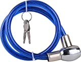 #8: Attractive Offer World Cable Lock For Bike, Helmet, Cycle & Luggage (Multipurpose Uses) Colour-Blue.