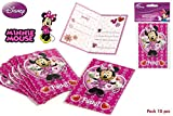 disney minnie mouse. imballare 10 inviti e compleanni.
