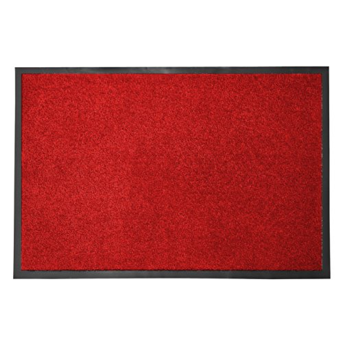 casa pura® Premium Fußmatte in attraktiver Optik   Schmutzfangmatte in 5 Größen   rot   60x90cm
