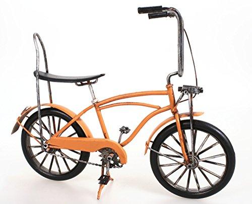 Bonanza Rad ohne Fuchsschwanz aus Metall 26 cm orange Oldtimer Nostalgie Blech Modell Fahrrad Velo