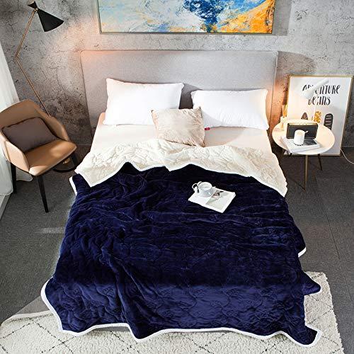 Fleece Wurfdecken Super Soft Fluffy Warm Solid Bed wirft für Sofa Luxus Mikrofaser Decke Saphirblau König Größe 200 x 230 cm ()