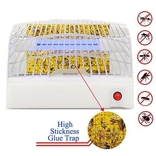 Silvotek Lampara antimosquitos Trampa para Mosquitos - Trampa para Moscas con Papel Pegado,antimosquitos electrico 11W lampara para Mosquitos Área de Cobertura de 45m2