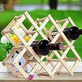 Make-up-Rahmen MEILING 10 Flaschen Holz Weinständer Alkohol Neer Pflege Trinkflaschenhalter Massivholz Regal Platz, Wo Dinge im Wohnzimmer platziert Werden