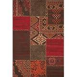 """Sona-Lux diseño de Alfombras tejidas rojo """"Seleccionar el tamaño"""" 120 x 170 cm"""