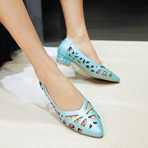 Mee Shoes Damen Niedrig hollow out einfach Pumps Blau