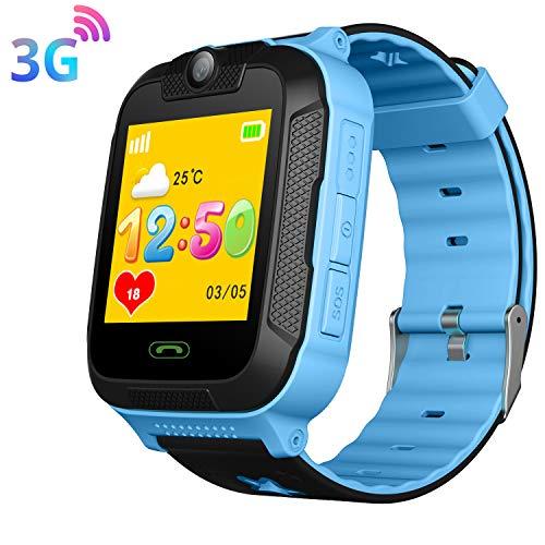 3G Niño Smartwatch,GPS LBS WiFi Position Tracker SOS Niño Relojes de Pulsera...