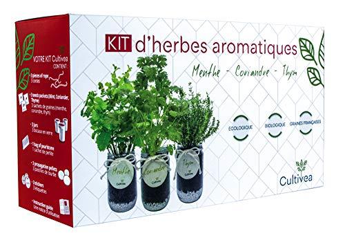 Cultivea - Kit Prêt à Pousser d'Herbes Aromatiques - Graines...