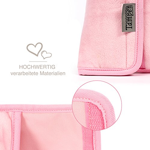 Tampen Almohadillas para cinturón de seguridad para niños /· Probado para sustancias nocivas /· Lavable en la lavadora /· Almohada para cinturón de alta calidad /· 30cm x 12cm /· Rosa /· Caballo