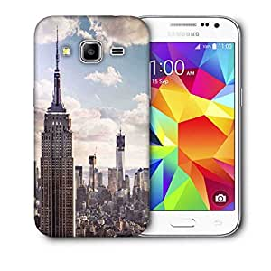 Snoogg Building And Cloud Printed Protective Phone Back Case Cover For Samsung Galaxy CORE PRIME