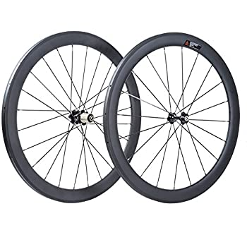 VCYCLE 50mm Tubualr 700C Carbono Bicicleta Ruedas 23mm Ancho UD Mate Shimano o Sram 8/