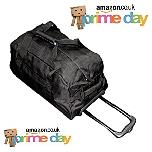 Cabin Size Roller Travel Bag Duffel Bag by Bon Goût - Hand Luggage Wheeled Trolley Holdall Duffle Wheely Carry Bag With Wheels Light Weekend Lightweight Overnight Bag With Wheels ...