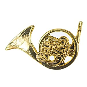 Miniblings Waldhorn Brosche Pin Anstecker Blasinstrument Orchester Horn gld Mini