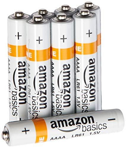 AmazonBasics - Pilas alcalinas AAAA (Paquete de 8)