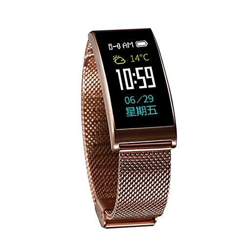 Leegoal Fitness Tracker, Wasserdichter Activity Tracker mit Herzfrequenz-Monitor, Sleep Monitor, Mehrere Sportarten, Step Kalorienzähler, Anruferinnerung für Frauen, Männer, Kinder(Gold)
