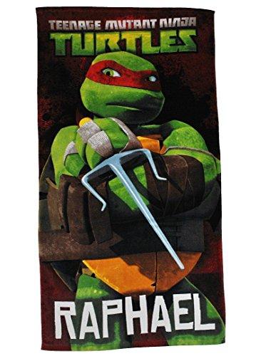 Badetuch Turtles 70 cm * 140 cm Handtuch Strandtuch Baumwolle - Raphael Schildkröten Teenage Mutant Ninja Turtle Jungen 70x140 für Kinder ()