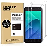 iVoler [3 Unidades] Protector de Pantalla para ASUS Zenfone 4 Selfie ZD553KL 5.5 Pulgadas, Cristal Vidrio Templado Premium